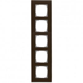 Schaltereinsatz Abdeckrahmen, 5 fach, Glas klar / umbra, KLEIN® K55