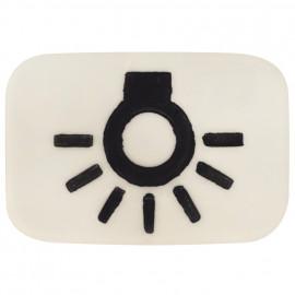 Steckdose Symbol Linse Licht für Tasterwippe DURO 2000 SI weiß Busch-Jaeger