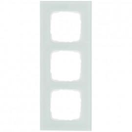 Abdeckrahmen Schalterprogramme, 3 fach, Glas mint / weiß, KLEIN SI®