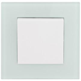 Schalter Komplett Aus / Wechsel mit Glasrahmen, weiß / mint, KLEIN® K50