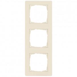 Schaltereinsatz Abdeckrahmen, 3 fach, KLEIN® K55 weiß