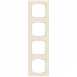 Schaltereinsatz Abdeckrahmen, 4 fach, KLEIN® K55 weiß