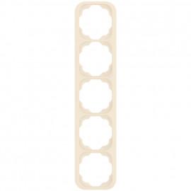 Schaltereinsatz senkrecht 5 fach Abdeckrahmen, KLEIN LX® weiß