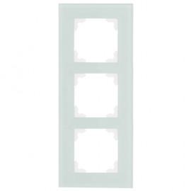 Schalter Abdeckrahmen, Wippenmaß 50 x 50 mm 3 fach, KLEIN® K50 mint / weiß