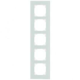 Schalter Abdeckrahmen, Wippenmaß 50 x 50 mm 5 fach, KLEIN® K50 mint / weiß