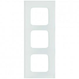 Abdeckrahmen Schalterprogramme, 3 fach, Glas klar / weiß, KLEIN SI®
