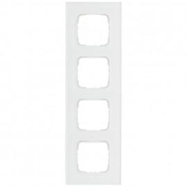 Abdeckrahmen Schalterprogramme, 4 fach, Glas klar / weiß, KLEIN SI®