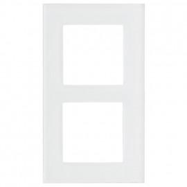Schaltereinsatz Abdeckrahmen, 2 fach, Glas klar / weiß, KLEIN® K55