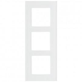Schaltereinsatz Abdeckrahmen, 3 fach, Glas klar / weiß, KLEIN® K55