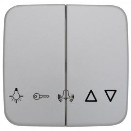 Wippe Schalterprogramme für Jalousie-Schalter, Klebesymbolen, KLEIN SI® silber matt