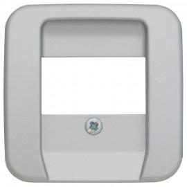 Zentralplatte Schalterprogramme für 3 fach TAE Steckdose, KLEIN SI® silber matt