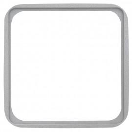 Adapterrahmen für Fremdgeräte mit 50 x 50 mm Zentralplatte für KLEIN SI® silber matt