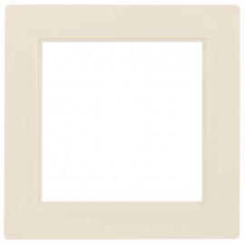 Adapterrahmen für Fremdgeräte mit 50 x 50 mm Zentralplatte für Gira® S-Color weiß