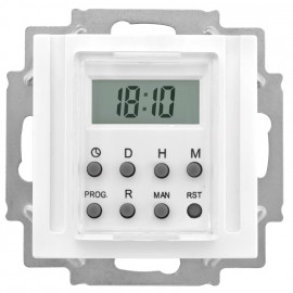 LCD Zeitschaltuhr, elektronisch, 230V / 1250 - 2500 W / 600VA, KOPP OBJEKT HK 07 reinweiß