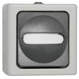 Schalter Taster, Aufputz, Feuchtraum, grau - hellgrau, IP44, Kopp Blue Electric