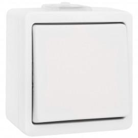 Schalter Aus / Wechsel, Aufputz, Feuchtraum, IP44, ultraweiß, Presto Vedder