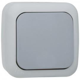 Schalter Aus Wechsel, Aufputz. Feuchtraum, IP54, grau / dunkelgrau, Viko