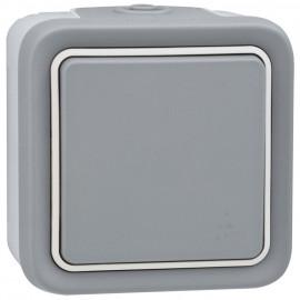 Wippschalter Kreuz - Schalter, Aufputz, Feuchtraum, IP55, grau, LEGRAND PLEXO