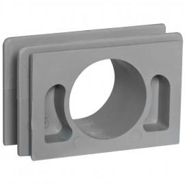Verbinder für senkrechte Kombinationen, Aufputz, Feuchtraum, IP54, grau, Viko