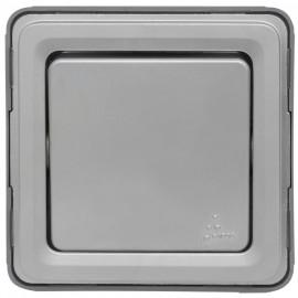 Kombi - Aus / Wechsel - Schaltereinsatz, Aufputz, Feuchtraum, IP55, grau, LEGRAND