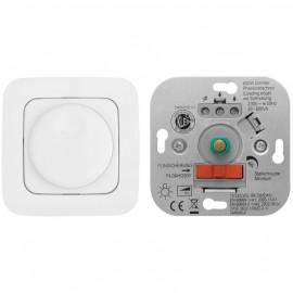 Dimmereinsatz Druck -/ Wechsel 60 - 600 W Metallwelle Ø 4 mm mit Adapter Ø 6 mm
