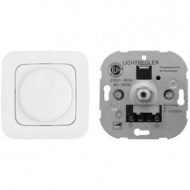 Dimmereinsatz Dreh -/ Aus, 40 - 300 W Welle Ø 4 mm und mit Adapter Ø 6 mm