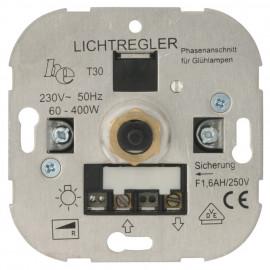 Dimmereinsatz Dreh / Aus, 60 - 400W, Ehmann