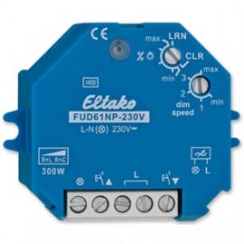 Funk Dimmempfänger, FUD61NP - 230V, 1 Kanal 230V / 40 - 300W