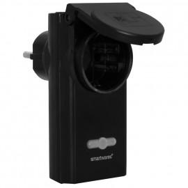 Steckdosen Adapter für Außen Funk, IP44, schaltbar bis 3500W ohmsche Last, schwarz