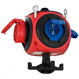 Kunststoff CEE Hängeverteiler, PEGASUS, rot/blau//schwarz, vorverdrahtet -PCE