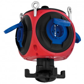 Kunststoff Hängeverteiler, PEGASUS, rot/blau//schwarz IP44 - PCE