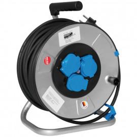Kabeltrommel mit 3 Schutzkontakt Steckdosen mit Klappdeckel, H07RN-F 3G1,5², 40 m
