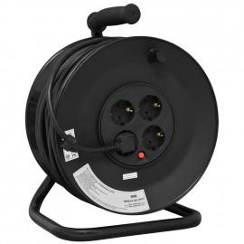 Kabeltrommel mit 4 Schutzkontakt Steckdosen, H05 VV-F 3G x 1,5²mm, 25 m