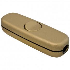 Schnur Zwischenschalter, 3(2)A, gold für Flachkabel