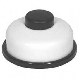Schnur Fußserienschalter, 2(1)A, weiß Ø 70 mm Inter Bär