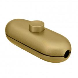 Schnur Zwischenschalter, 2(1)A, gold für Rundkabel