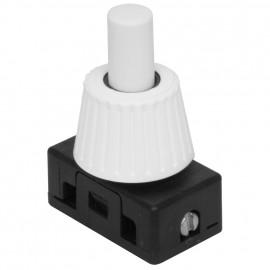 Einbau Druckschalter 250V / 2 ( 1)A, 1pol M10 x 1 Länge 12 mm, weiß