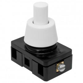 Einbau Druckschalter 230V / 6 (2)A, 1 pol M10 x 1 Länge 8 mm, weiß