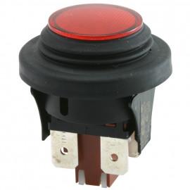 Einbau Druckschalter, 250V / 16 (4)A, 2 pol., IP65, beleuchtet