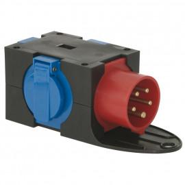 CEE Adapterstecker, 16A, CEE auf 3 Schutzkontakt- Steckdosen - PCE