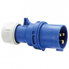 CEE Stecker, 3-polig, 16A/230V, IP44  spritzwassergeschützt