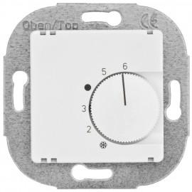 Raumthermostat, Kombi, Öffner, 10A (4A), +5° bis +30°, Zentralplatte 50 x 50 mm reinweiß