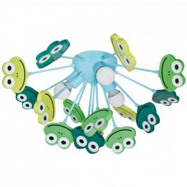 Kinderzimmerleuchte, Deckenleuchte Frösche, 3 x E14 / 40W