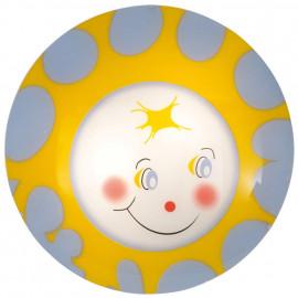 Kinderzimmerleuchte, Deckenleuchte Motiv Sonne, 2 x E27 / 60W