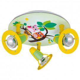 Kinderzimmerleuchte, Deckenleuchte Eulen , 3 x E14 / 40W Reflektor