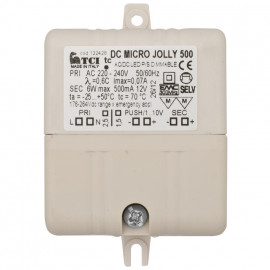 LED Netzteil, 230V / 12V-DC / 6W / 500mA Dimmfunktion TCI