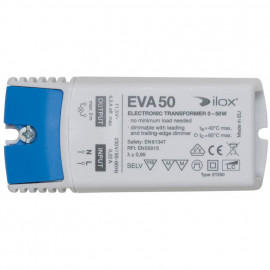 Elektronische Halogentrafos NV Sicherheitstrafo, 230V / 11,5V / 0-50W Ilox