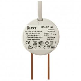 Elektronische Halogentrafos NV Sicherheitstrafo 230V / 11,8V / 10-50W TCI