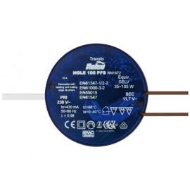 Elektronische Halogentrafos NV Sicherheitstrafo, 230V / 11,8V / 35-105W Relco