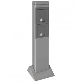 Steckdosensäule, STEEL CRAFT, 2 Steckdosen Sockel Breite 165mm, Tiefe 165mm